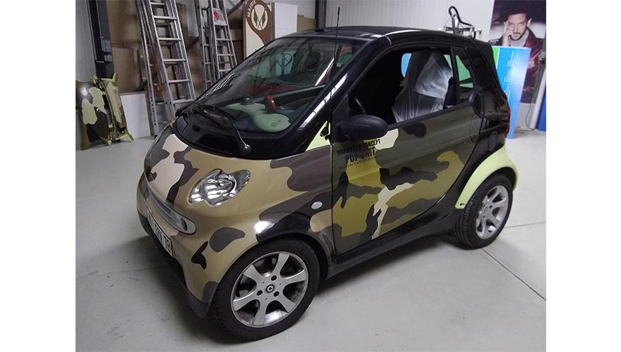 Habillage véhicule Smart total covering impression numérique